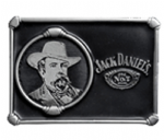 Jack Daniel's Cameo Belt Buckle with display stand. Officially licensed. Product code WH5